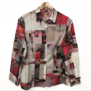 ERFO cool geometric dress-shirt